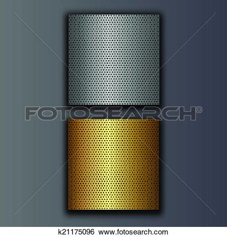 Clip Art of perforated plates k21175096.