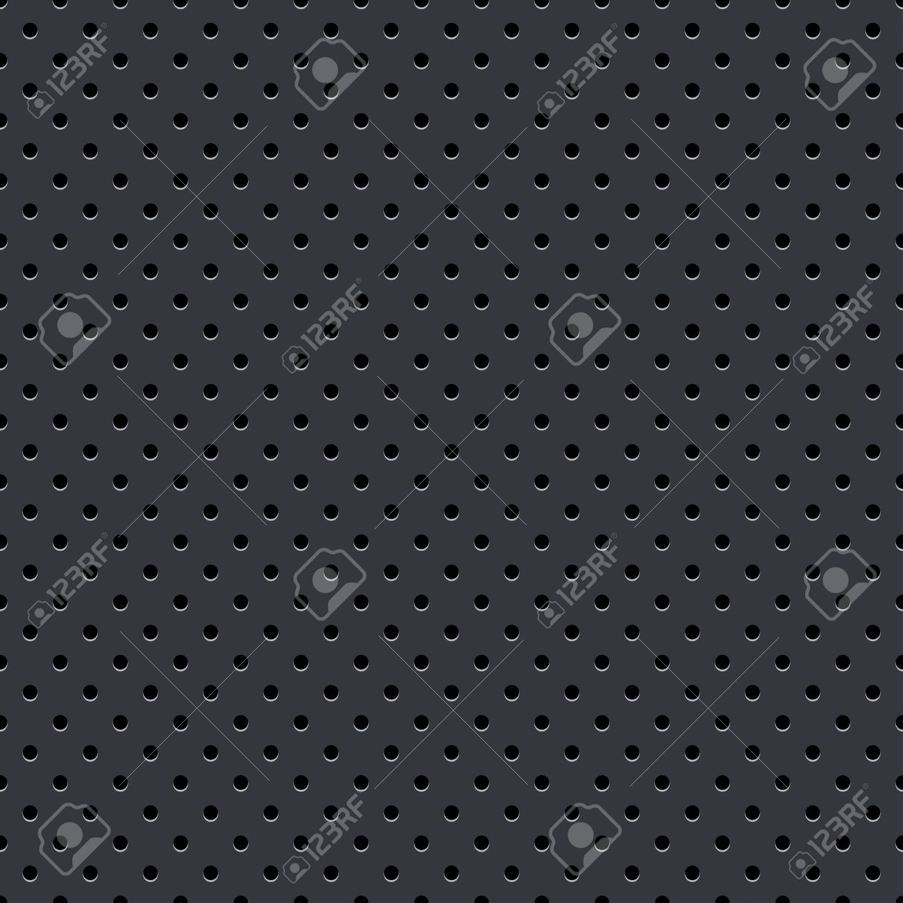 Dark Gray Seamless Perforated Plate Royalty Free Cliparts, Vectors.