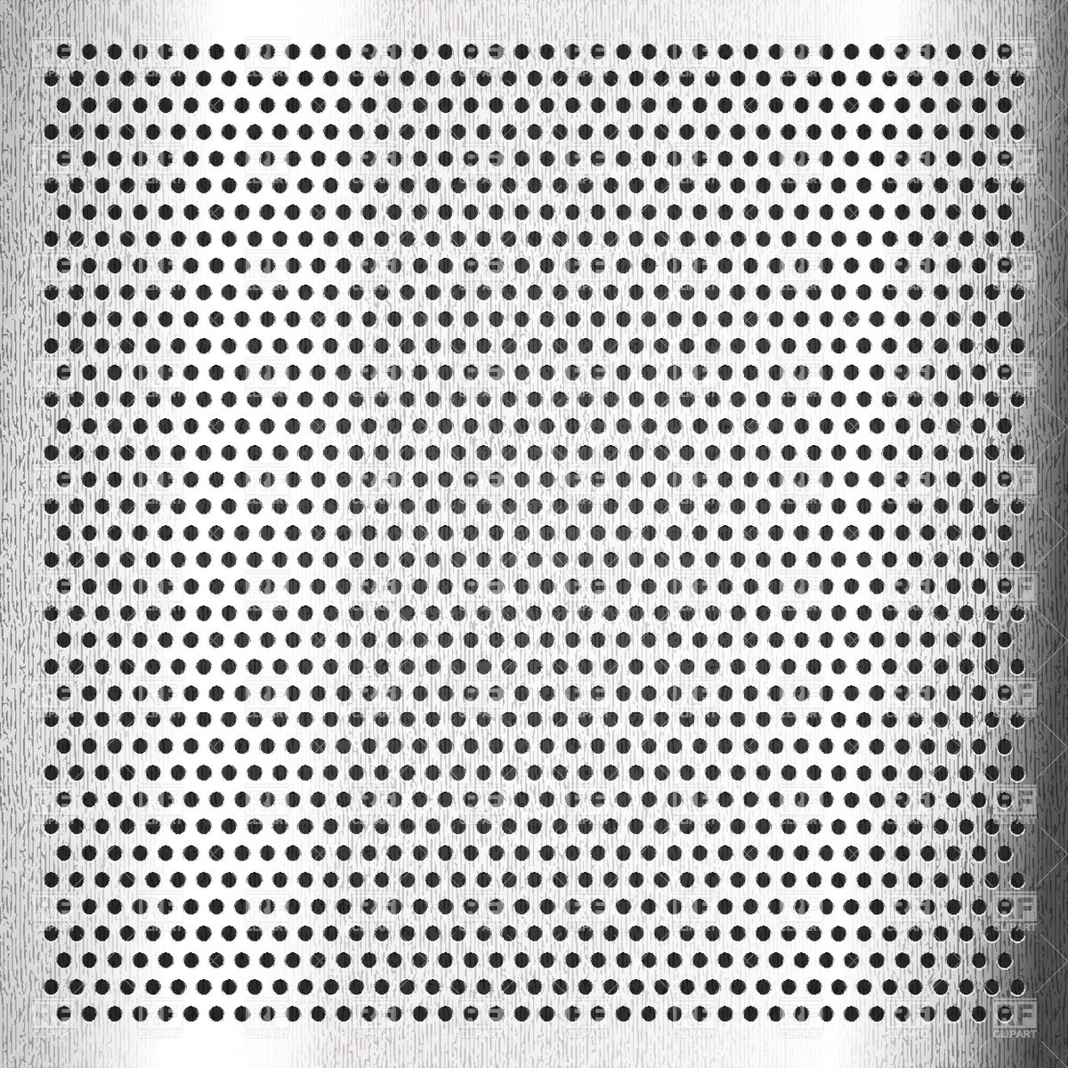 Scratched aluminum perforated background Vector Image #18426.