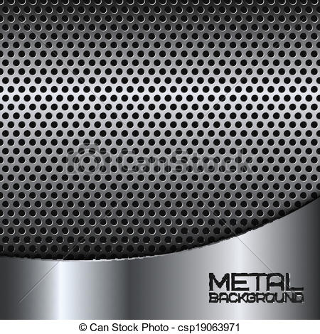 Vectors Illustration of Abstract metal background with perforation.