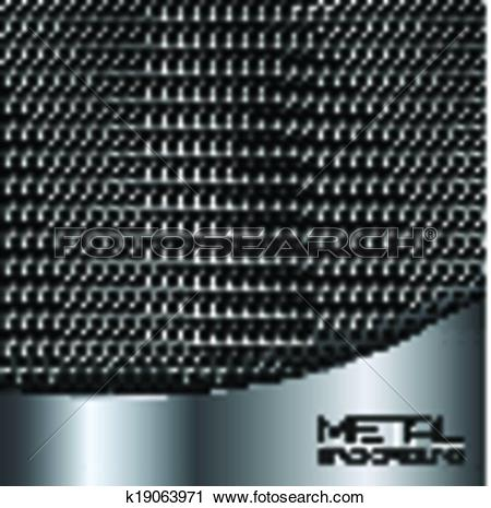 Clipart of Abstract metal background with perforation k19063971.