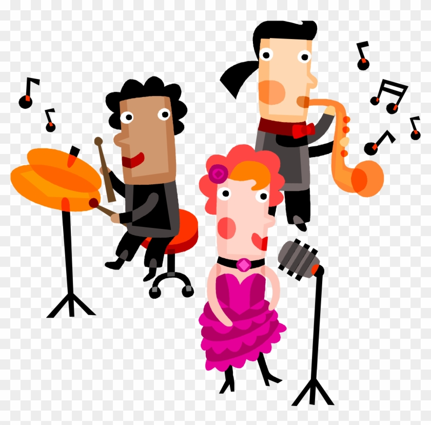 Singing Clipart Group Singer.