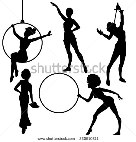 Acrobats Silhouettes Circus Performers Stock Photos, Images.
