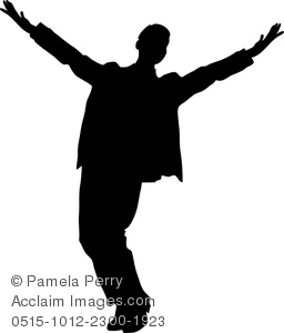 Royalty Free Clipart Image: Silhouette of a Performer, Actor Or.