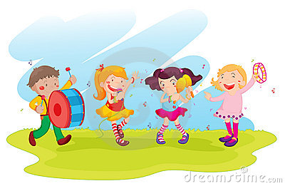 A Children's Choir Performing On Stage Royalty Free Stock Image.