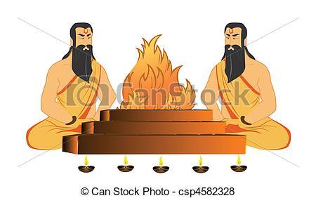Stock Illustration of saints rituals.