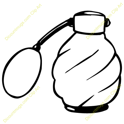 Perfume bottle cartoon clip art.