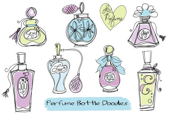 Doodle Perfume Bottles Clipart ~ Illustrations on Creative Market.
