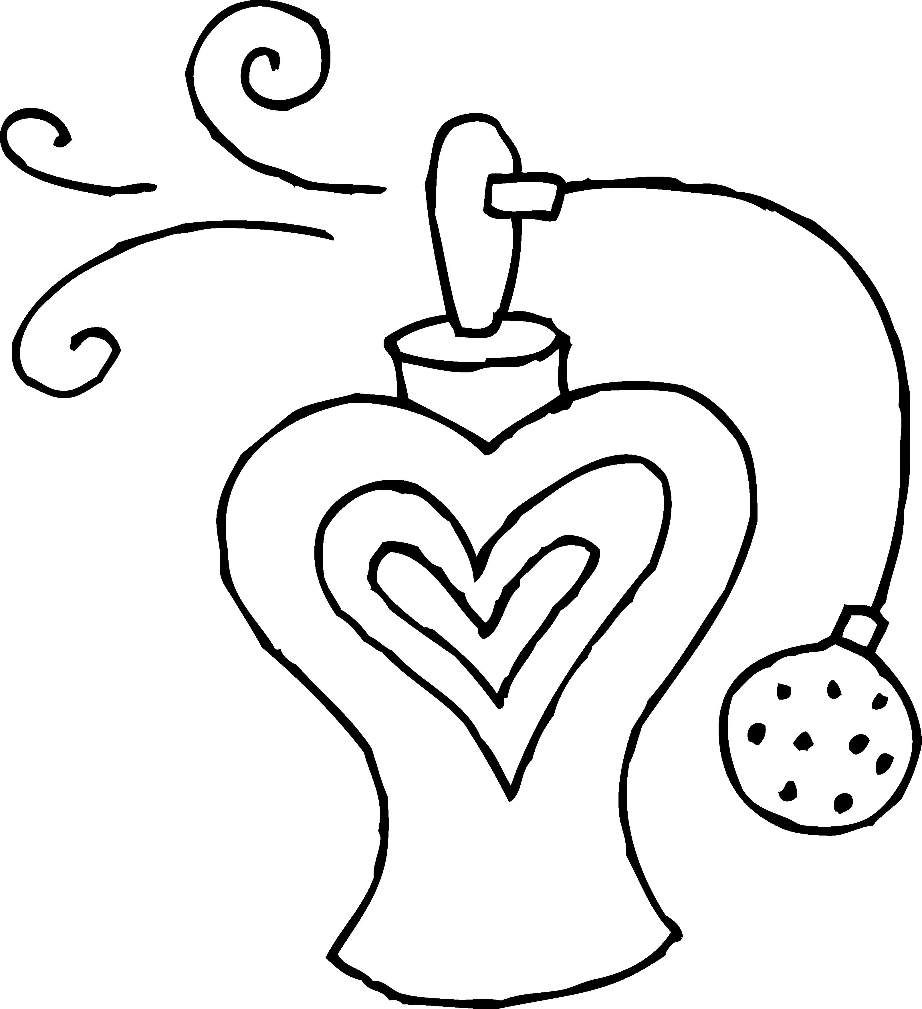 Perfume Bottle Line Art.