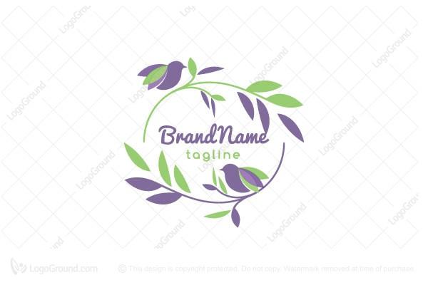 Exclusive Logo 161489, Perfume Birds Logo.