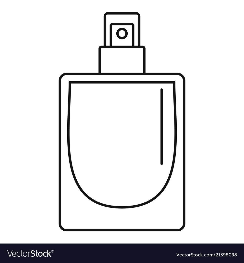 French perfume icon outline style Royalty Free Vector Image.