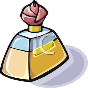 Bottle of Perfume With A Rose.