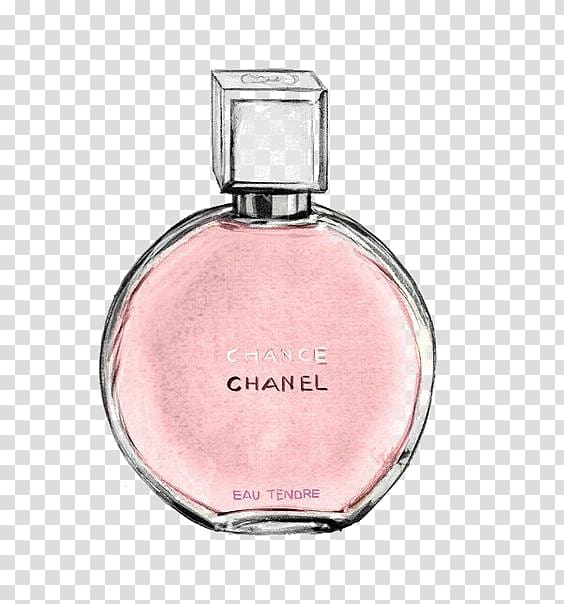 Chanel Chance perfume bottle painting, Chanel No. 5 Coco.