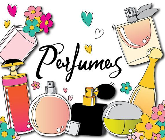 75% OFF SALE Perfume beauty cosmetics doodle by.