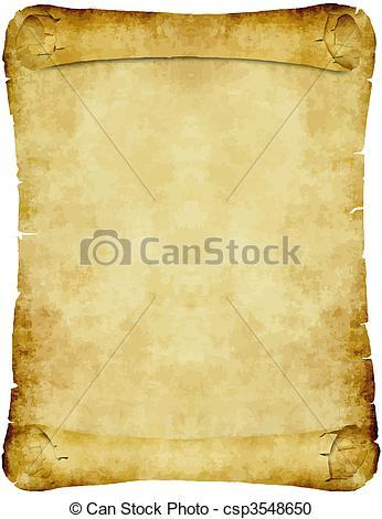 Vektor Clipart von Weinlese, Papier, pergament, rolle.