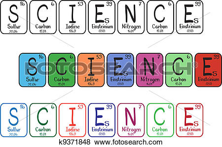 Clip Art of Periodic table elements.