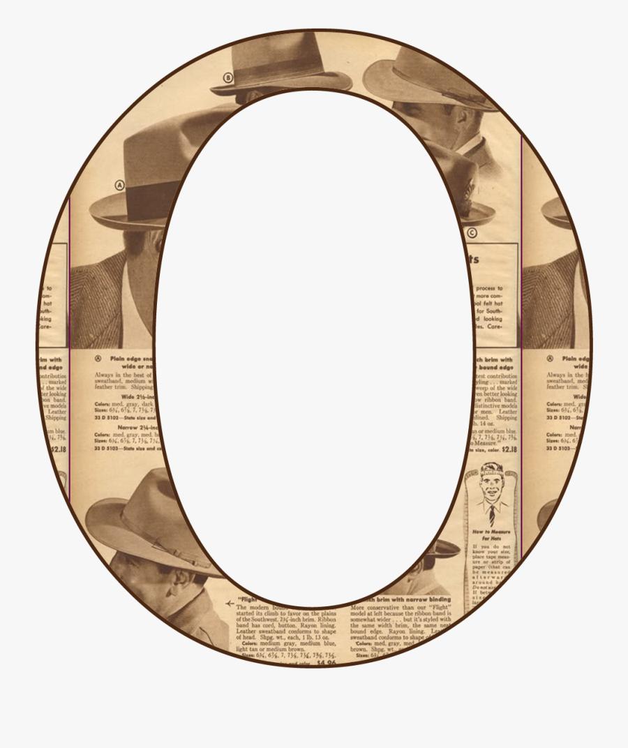 Alfabeto En Periodico Antiguo.