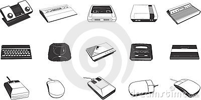 Peripheral Devices Clipart.