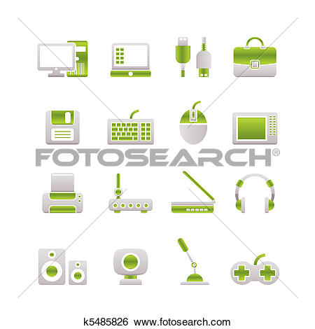 Clip Art of Computer equipment and periphery k5485826.