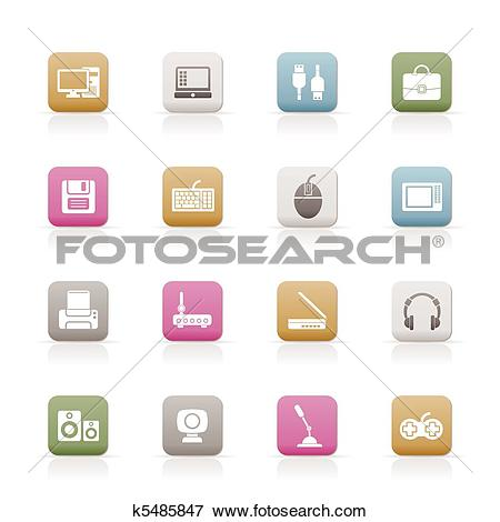 Clip Art of Computer equipment and periphery k5485847.