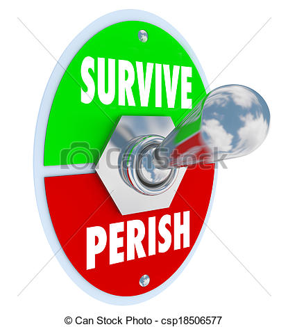 Picture of Survive Vs Perish Toggle Switch Choose to Win Endure.