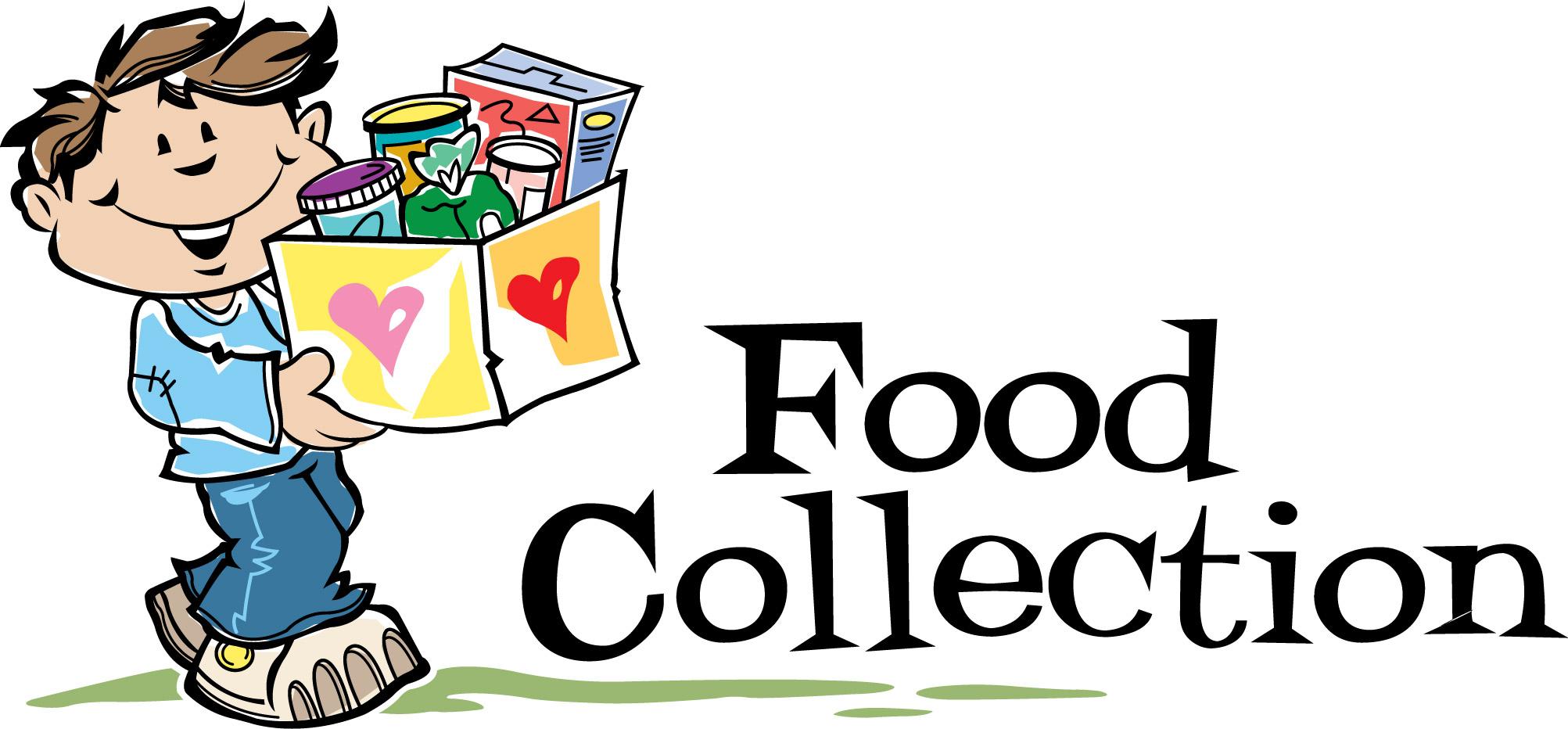 Non perishable food donations clipart.