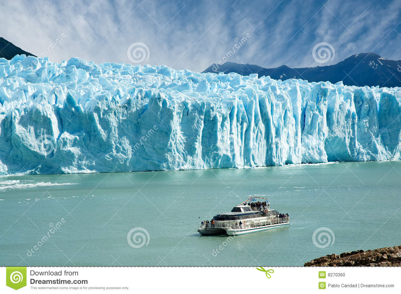 Perito Moreno Glacier, Patagonia, Argentina Stock Photos.