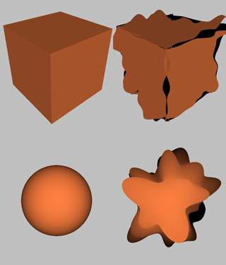 Calculating normals after displacing vertices in shader?.