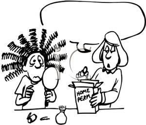 Permanent Gone Wrong Cartoon.