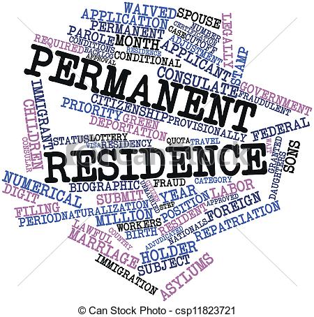 Clip Art of Permanent residence.