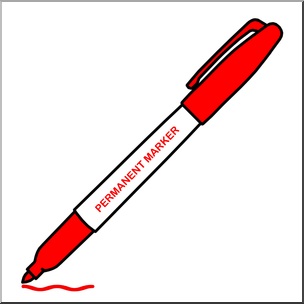Clip Art: Permanent Marker Red Color I abcteach.com.
