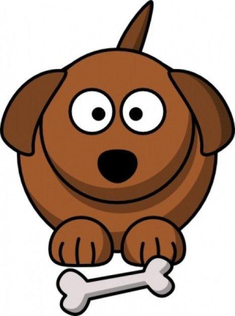 Perro de dibujos animados de Clip Art.