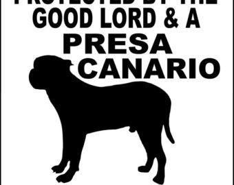 Presa Canario Clipart.