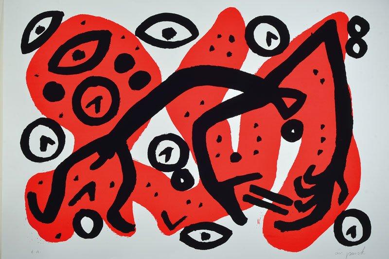 A.R.Penck, born 1939 Dresden, Perry Rhodan III : Lot 6365.