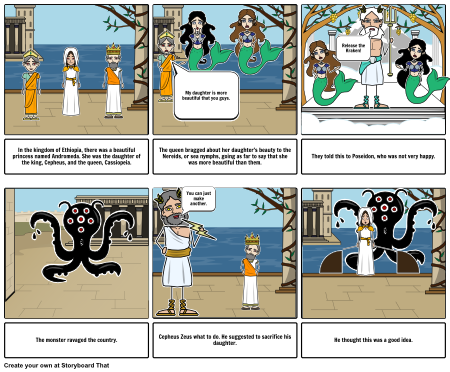 Perseus and Andromeda 1 Storyboard by lewiaa18.