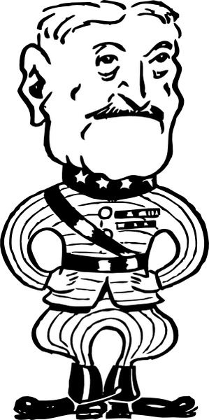 Gen John J Pershing clip art Free vector in Open office drawing.