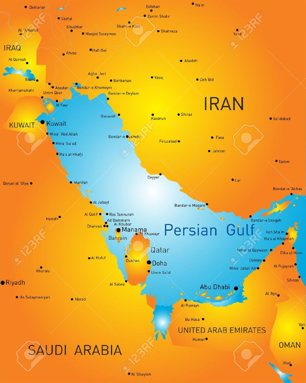 Persian Map Clipart.