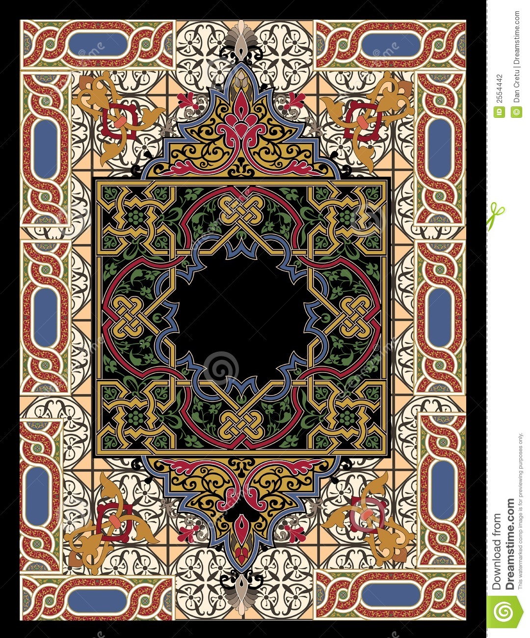 Colorful Persian Rug Stock Photography.