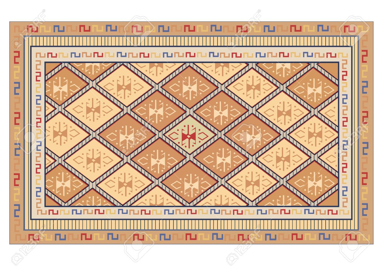 Oriental Carpet Vector Royalty Free Cliparts, Vectors, And Stock.
