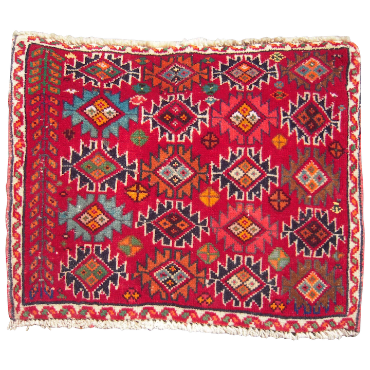 Vintage Table Top Size ( 1 1/2\' x 2\') Persian Rug.