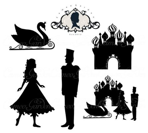 Silhouette The Nutcracker Doll Kingdom Clipart.
