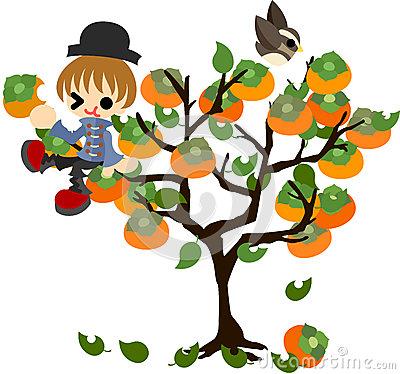 Persimmon Tree Clipart.