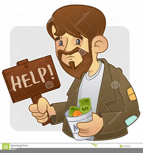 Person Begging Clipart.