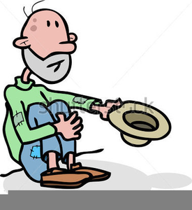 Clipart Person Begging.