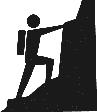 Someone Climbing Cliparts.