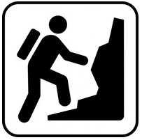 Person Climbing Mountain Drawing.