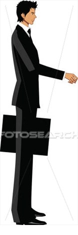 Side View Of A Person Standing Clipart.