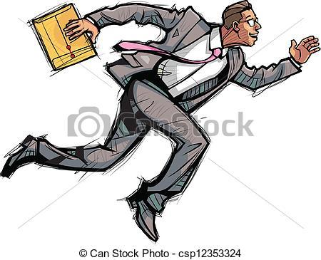 Vector Illustration of Side view of man running csp12353324.