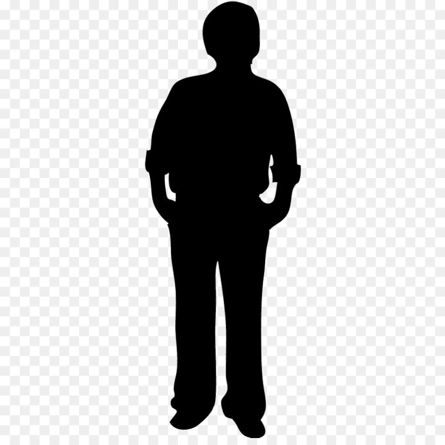 Transparent Person Silhouette.