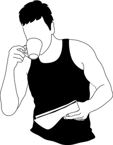 People Drinking Coffee Clipart.